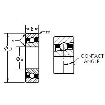 AST H7026C angular contact ball bearings