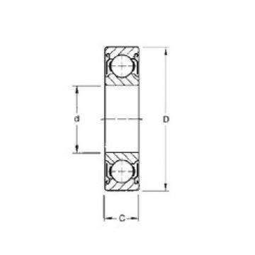 CYSD 6822-ZZ deep groove ball bearings