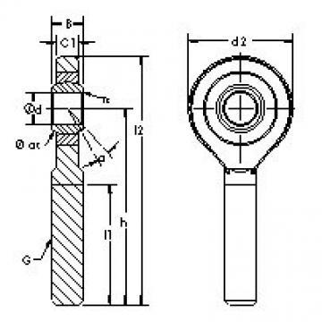 AST SA60ET-2RS plain bearings