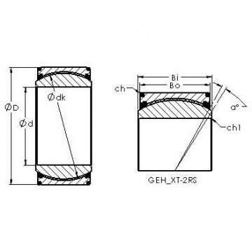 AST GEH140XT-2RS plain bearings
