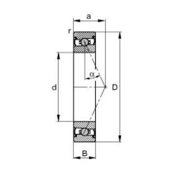 FAG HCS7016-E-T-P4S angular contact ball bearings