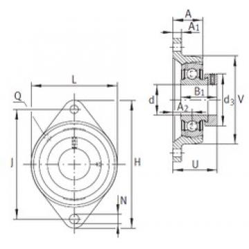 INA PCFT40 bearing units