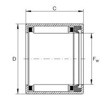 INA SCE86-P needle roller bearings