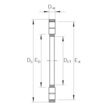 INA K89420-M thrust roller bearings
