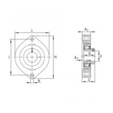 INA FLCTEY17 bearing units
