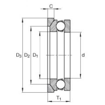 INA 4128-AW thrust ball bearings