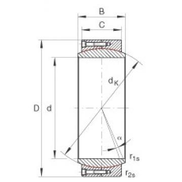 INA GE670-DW plain bearings