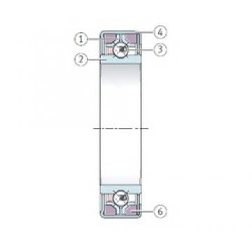 INA F-234832.8 angular contact ball bearings