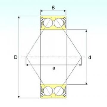 ISB 3207-ZZ angular contact ball bearings
