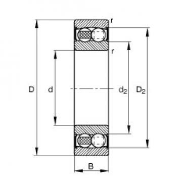 FAG 2213-2RS-TVH self aligning ball bearings