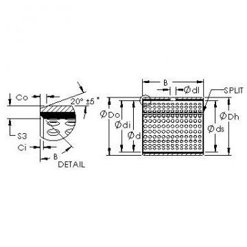 AST AST20 7580 plain bearings
