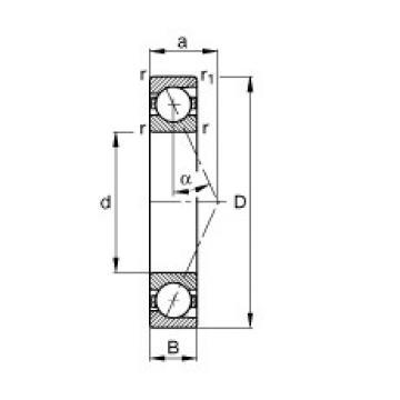 FAG B71926-E-T-P4S angular contact ball bearings