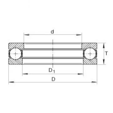INA 2923 thrust ball bearings