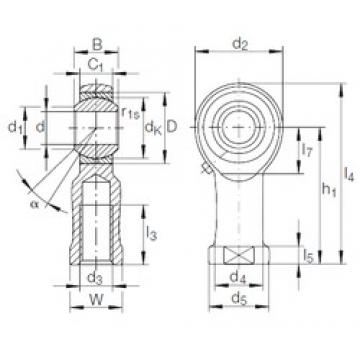 INA GIKL 12 PB plain bearings