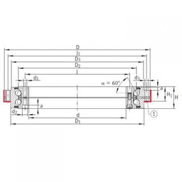 INA ZKLDF260 angular contact ball bearings