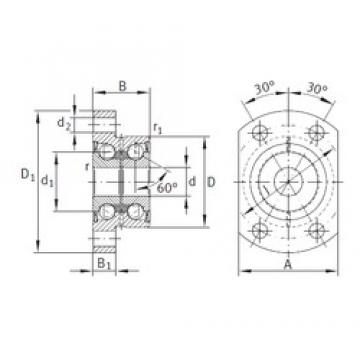 INA ZKLFA1050-2Z angular contact ball bearings