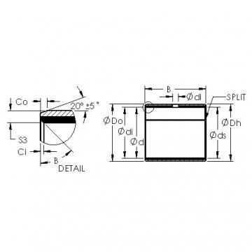 AST AST40 1615 plain bearings