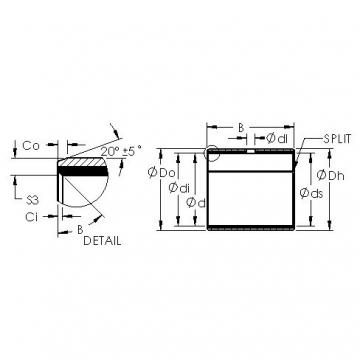 AST AST40 30080 plain bearings