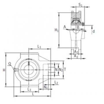 INA RTUEY65-214 bearing units