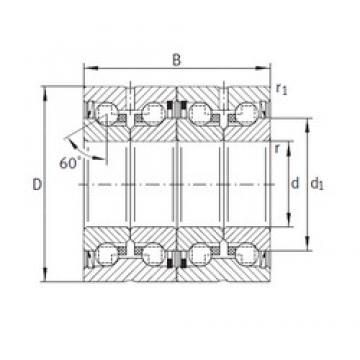 INA ZKLN2052-2RS-2AP thrust ball bearings