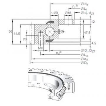 INA VLA 20 0744 N thrust ball bearings