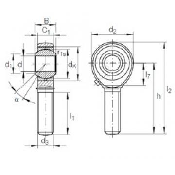INA GAKFR 8 PB plain bearings