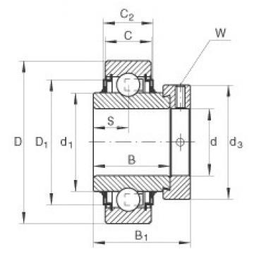 INA E40-KLL deep groove ball bearings