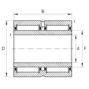 INA NA6914-ZW needle roller bearings