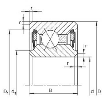 INA CSXU050-2RS deep groove ball bearings