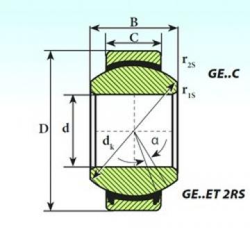 ISB GE 20 ET 2RS plain bearings