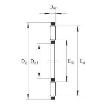 INA TC1423 thrust roller bearings