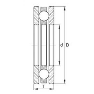 INA EW1-1/4 thrust ball bearings