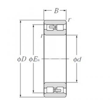 CYSD NN3011/W33 cylindrical roller bearings