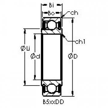 AST B542DD deep groove ball bearings
