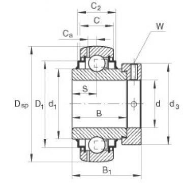 INA GE20-KLL-B deep groove ball bearings