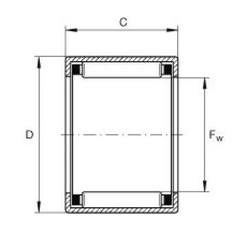 INA SCE1110 needle roller bearings