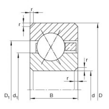 INA CSXA025 deep groove ball bearings