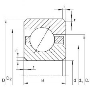 INA CSEA035 deep groove ball bearings
