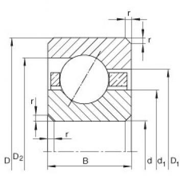 INA CSEB035 deep groove ball bearings