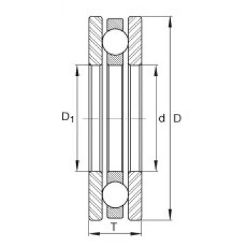 INA 4411 thrust ball bearings