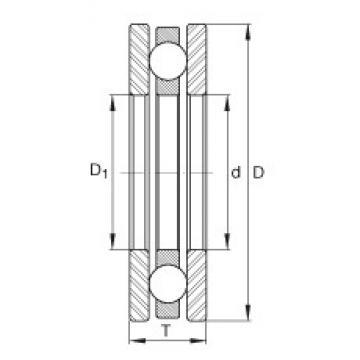 INA 4424 thrust ball bearings