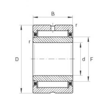 INA NA4922 needle roller bearings