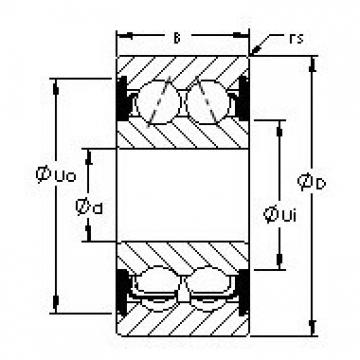 AST 5208-2RS angular contact ball bearings