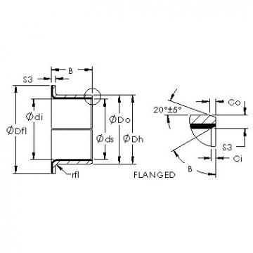 AST AST50 14FIB12 plain bearings