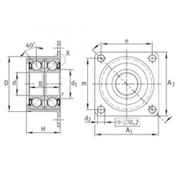 INA ZKLR1547-2RS angular contact ball bearings