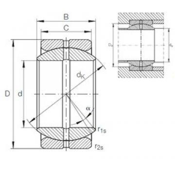 INA GE 69 ZO plain bearings