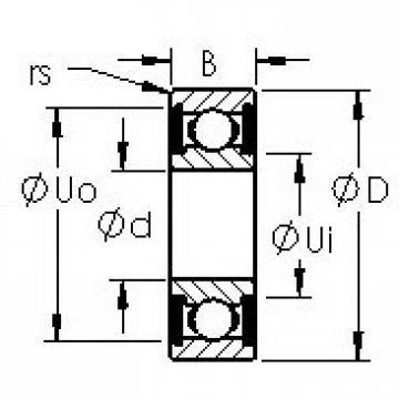 AST 692XH-TT deep groove ball bearings