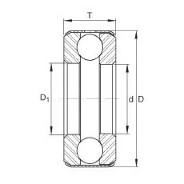 INA D9 thrust ball bearings