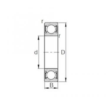 CYSD R6-2RS deep groove ball bearings