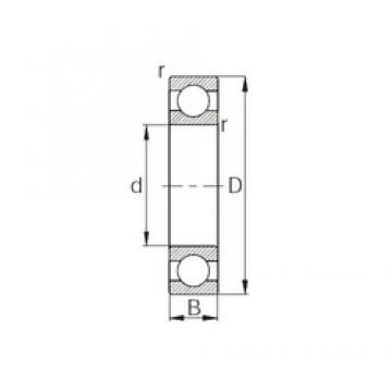 CYSD 1614 deep groove ball bearings